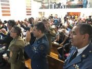 Militares no culto do GRUMESJ