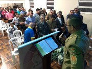 Militares no culto do GRUMESJ